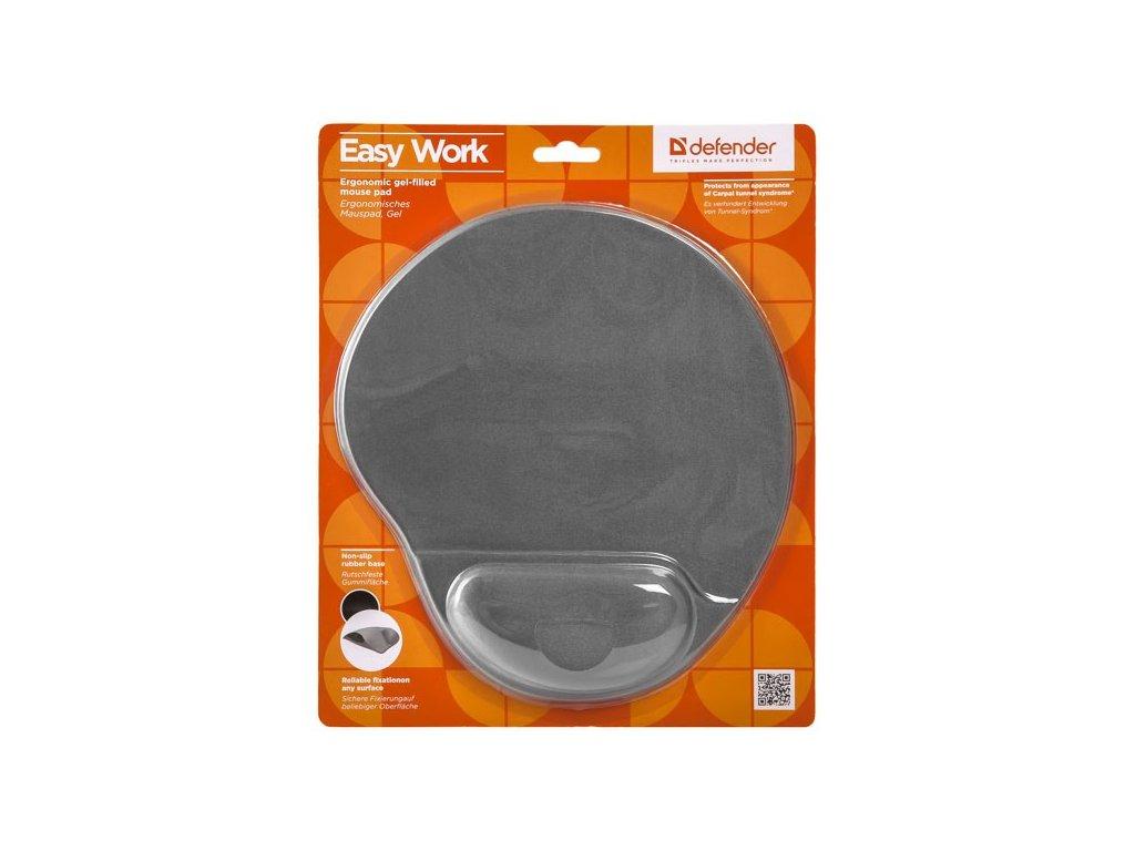 Podložka pod myš, polyuretan, šedá, 26x22.5cm, 5mm, Defender