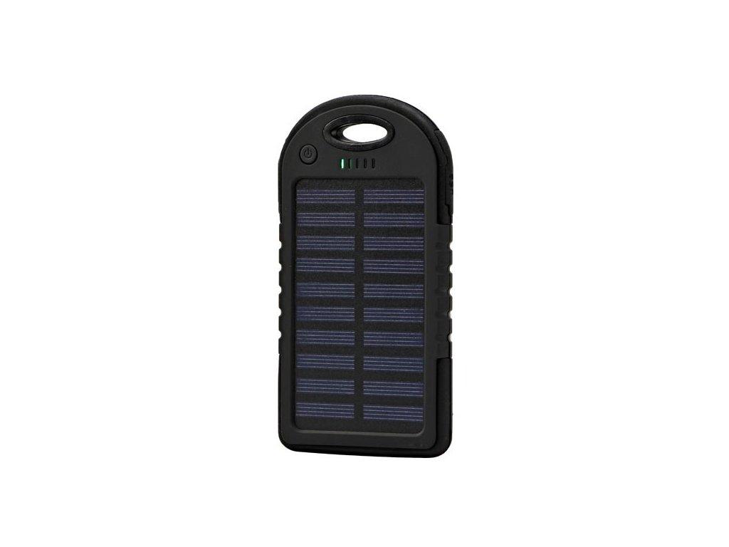 Powerbanka, solární, Li-ion, 5V, 4000mAh, nabíjení mobilních telefonů aj., 2xkonektor