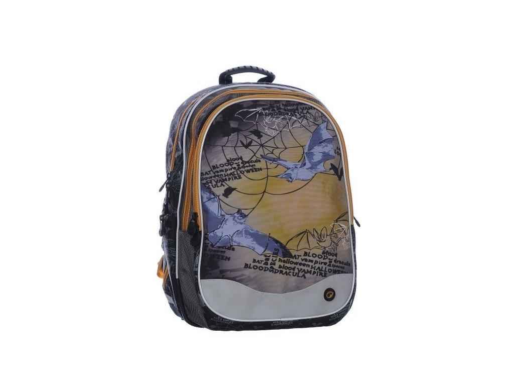 Školní batoh Bagmaster EV07 0115 B BROWN NETOPÝR