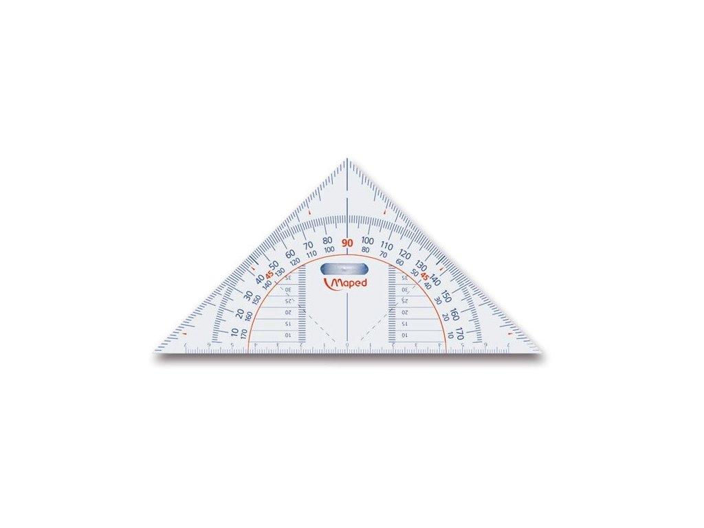 Trojúhelník MAPED Technic 16 cm, úhloměr