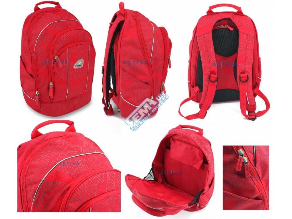 Školní batoh Walker Safety - červený (batoh školní-WALKER-červený)