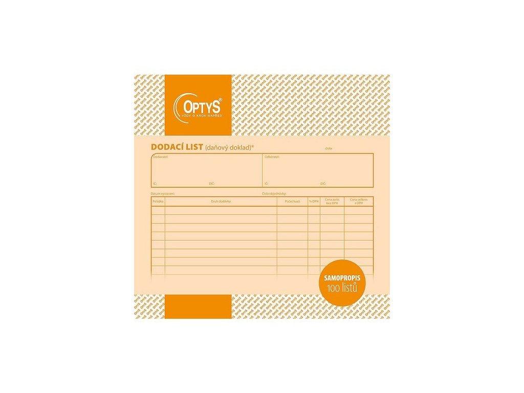 Dodací list - daňový doklad sampropisovací 100 listů 21 x 20 cm