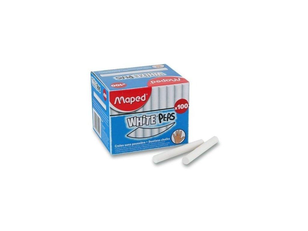 Křídy Maped - bílé, 100 kusů