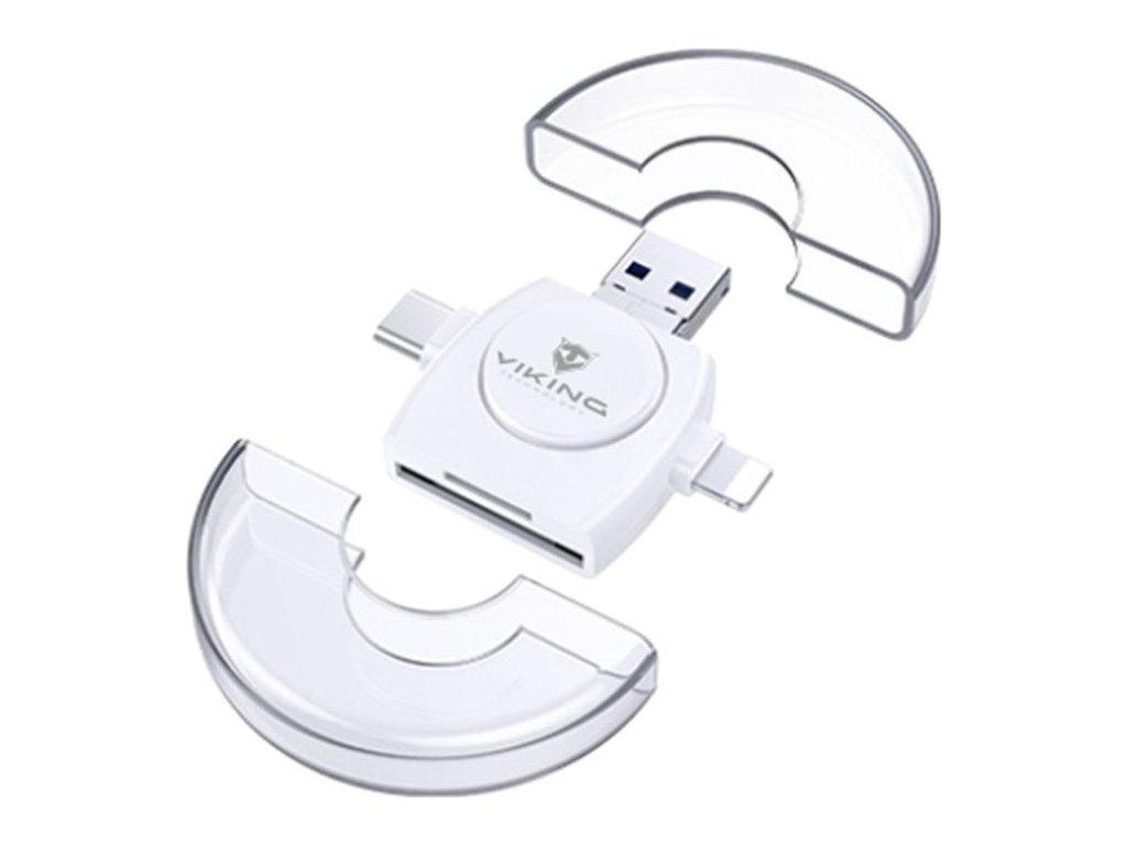 Viking OTG čtečka paměťových karet 4v1, USB3.0, bílá618/2628,T20/28,R320 Eri