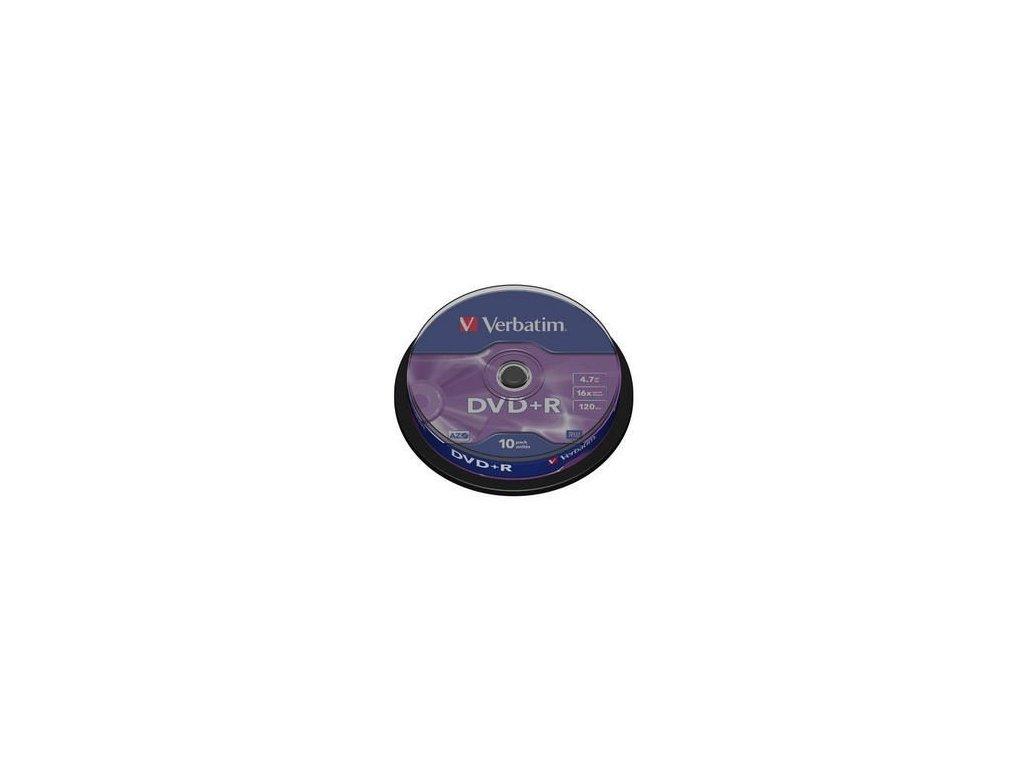 DVD+R, Verbatim, 43498, DataLife PLUS, 10-pack, 4.7GB, 16x, 12cm, General, Advanced Azo+, bez možn