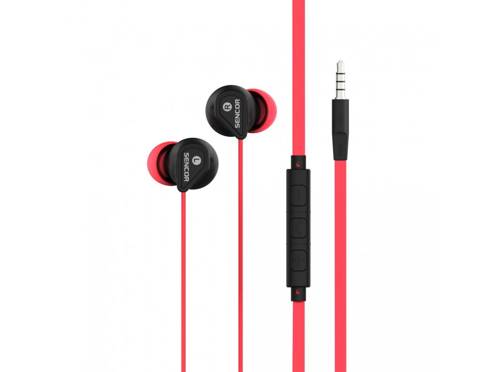 SENCOR SEP 172 VCM PINK Sluchátka do uší s mikrofonem a regulací hlasitosti