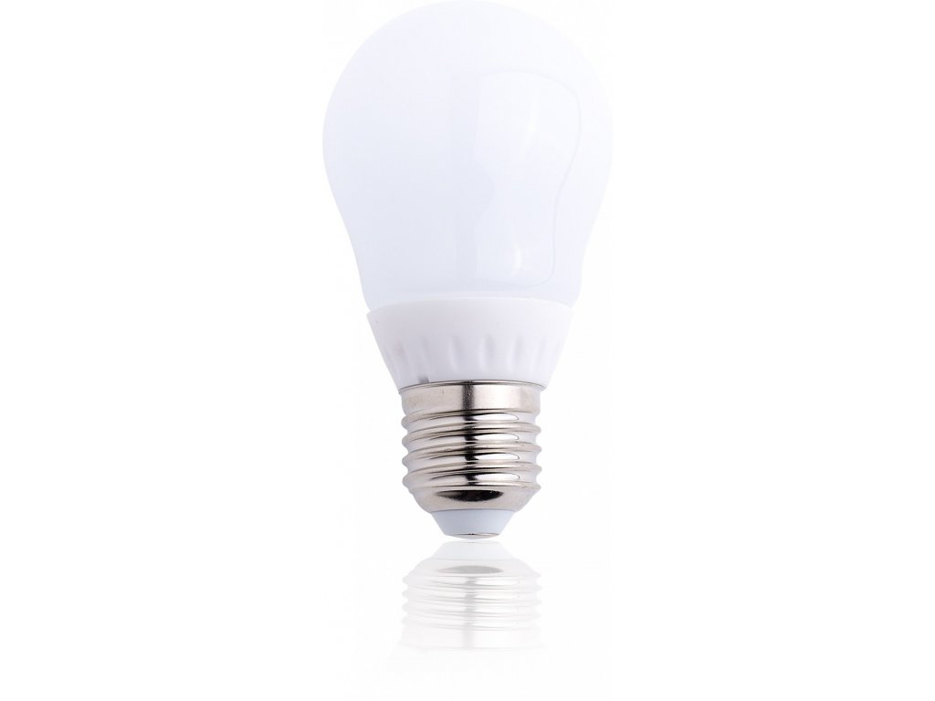 TESLA LED žárovka BULB, E27, 4W, 230V, 340lm, 180°, 15 000h, 3000K teplá bílá, CRI(RA)?80