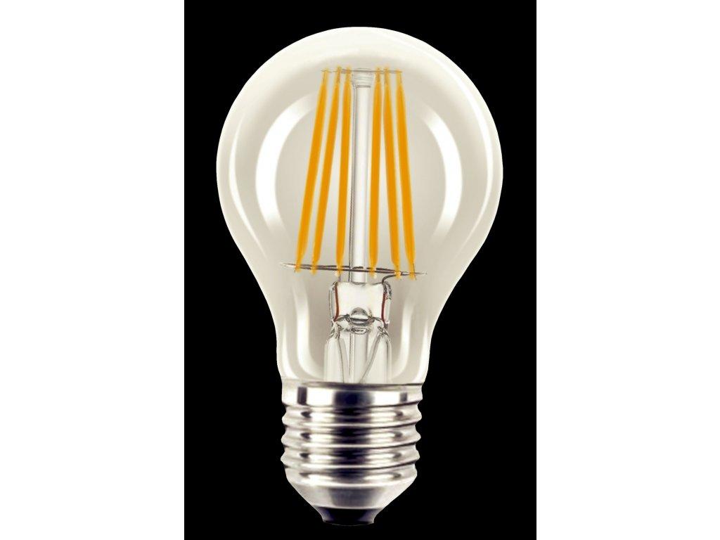 TECHLAMP LED VLÁKNOVÁ žárovka standardní čirá E27 230V 6W 600lm 2700K 105x60mm živ.15000h, A+