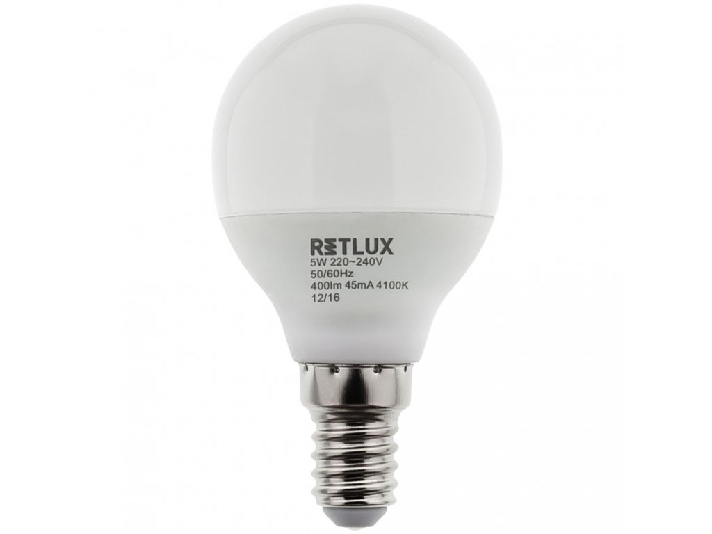 RETLUX RLL 269 G45 E14 miniG 6W CW