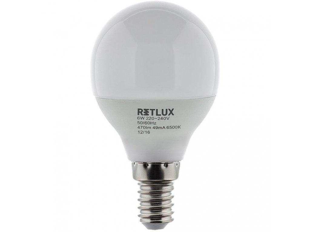 RETLUX RLL 270 G45 E14 miniG 6W DL