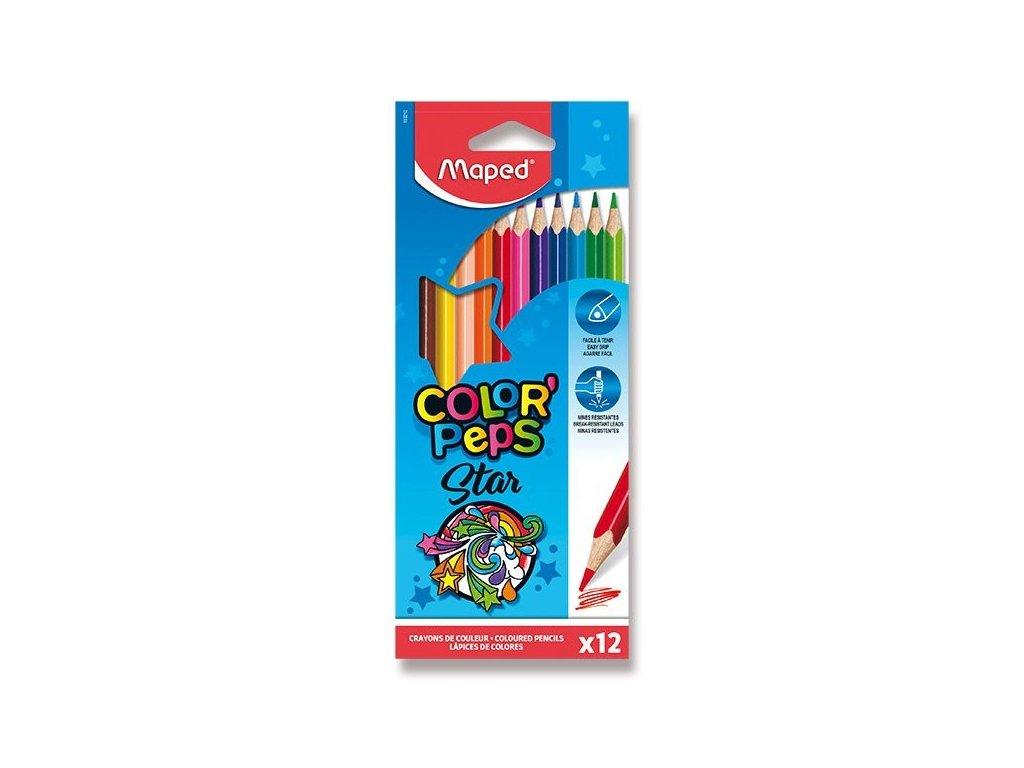 Pastelky trojboké MAPED Color Peps 12 ks, BL