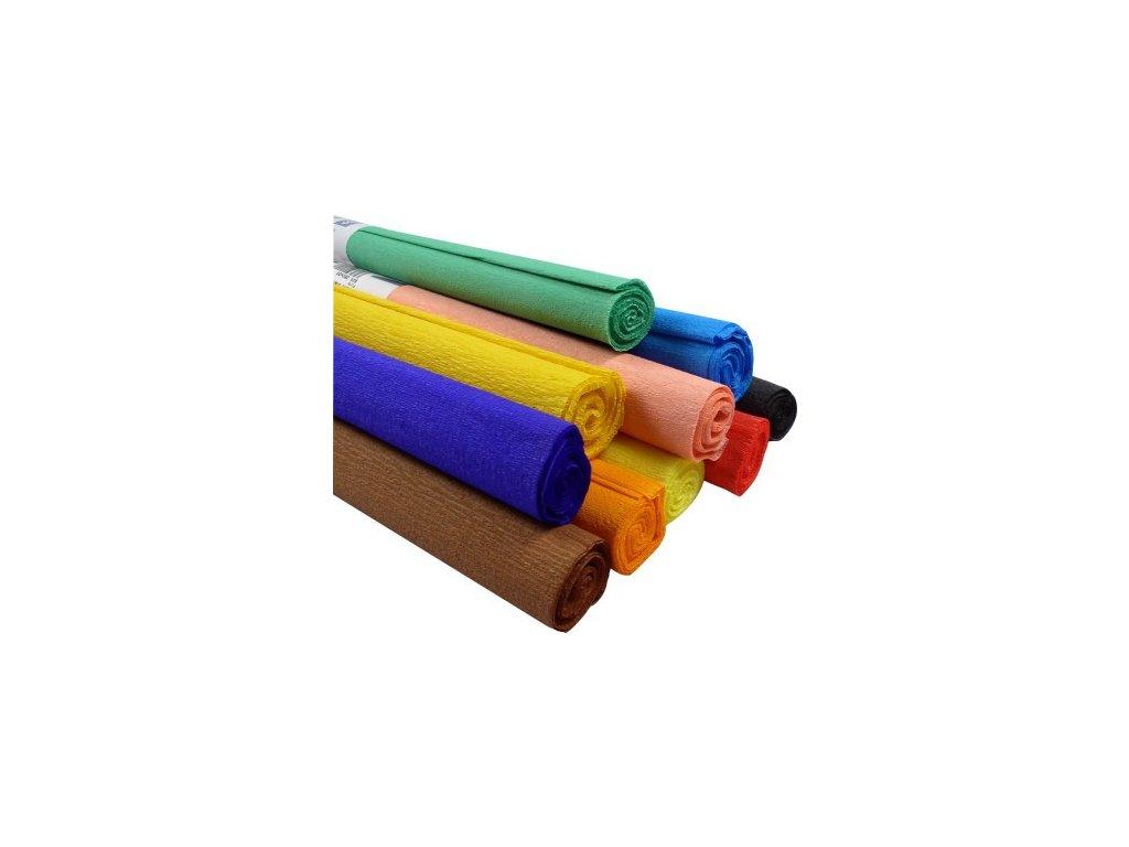 Krepový papír 50x200cm/10ks mix barev