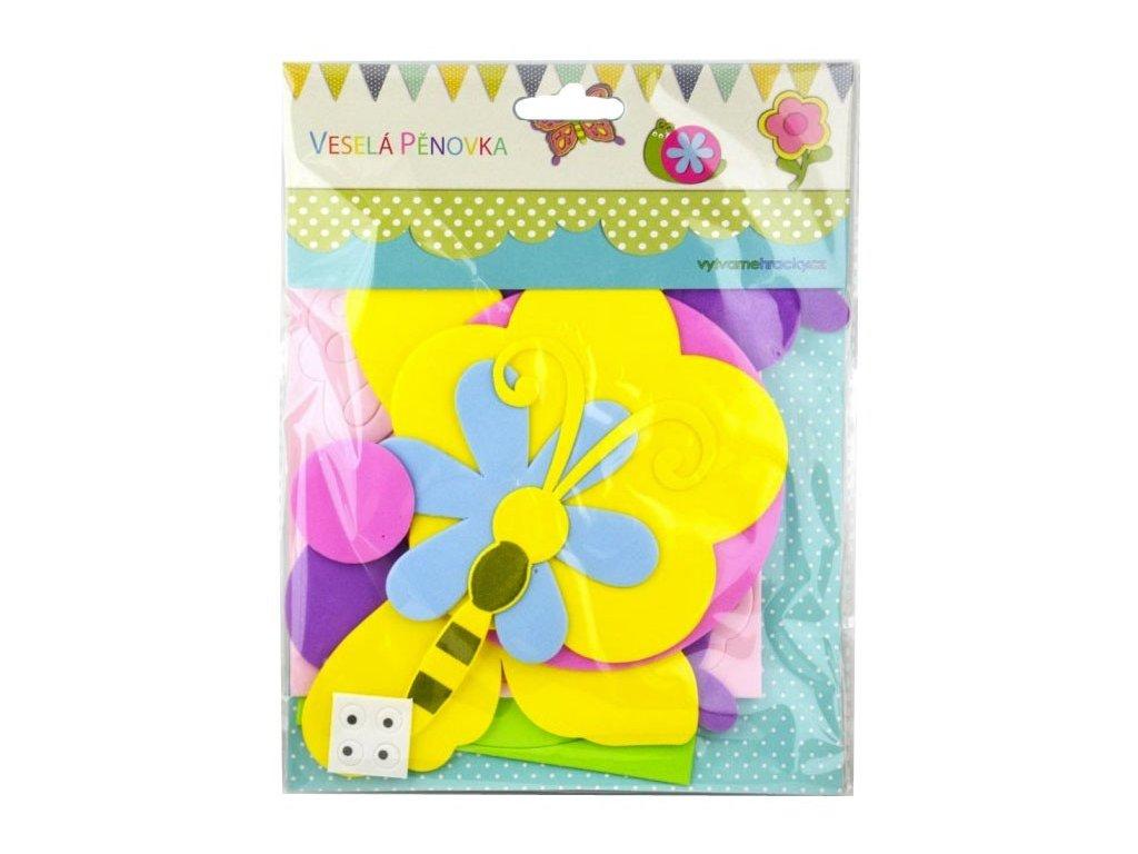 Set kreativní Šnek,květina,motýl guma mech.