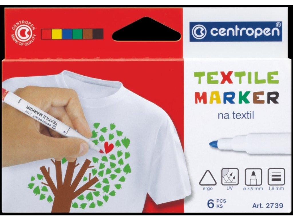 Popisovač CENTROPEN 2739/6 sada textil