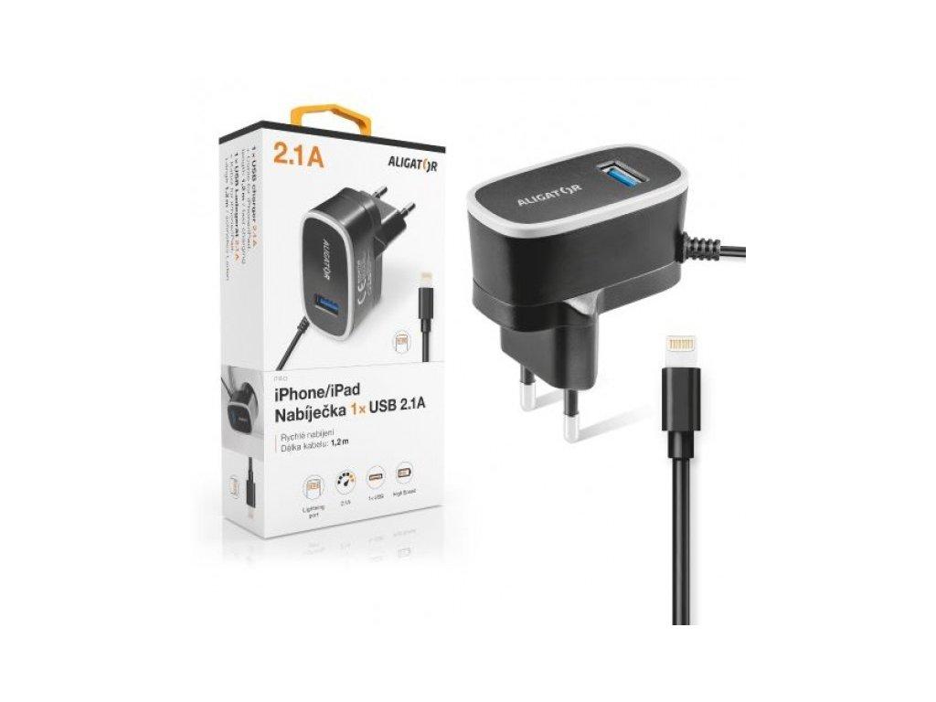 CD ALIGATOR pro iPhone s USB výst 5V/2,1A, černá