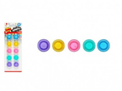 Magnet kulatý barevný 20mm/10ks mix