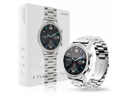 Chytré hodinky Aligator Watch PRO (Y80), stříbrné