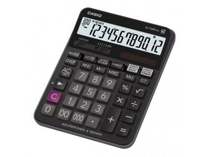 Casio DJ 120 D PLUS, černá, stolní kalkulačka, dvanáctimístná