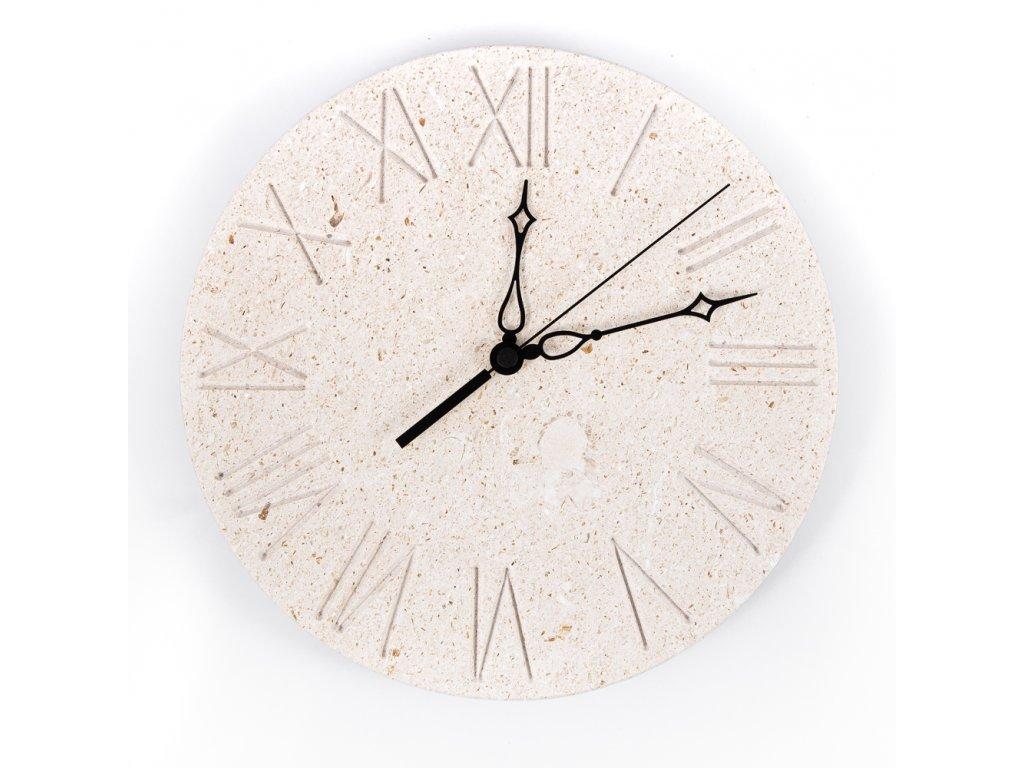 nástěnné hodiny s římskými čísly
