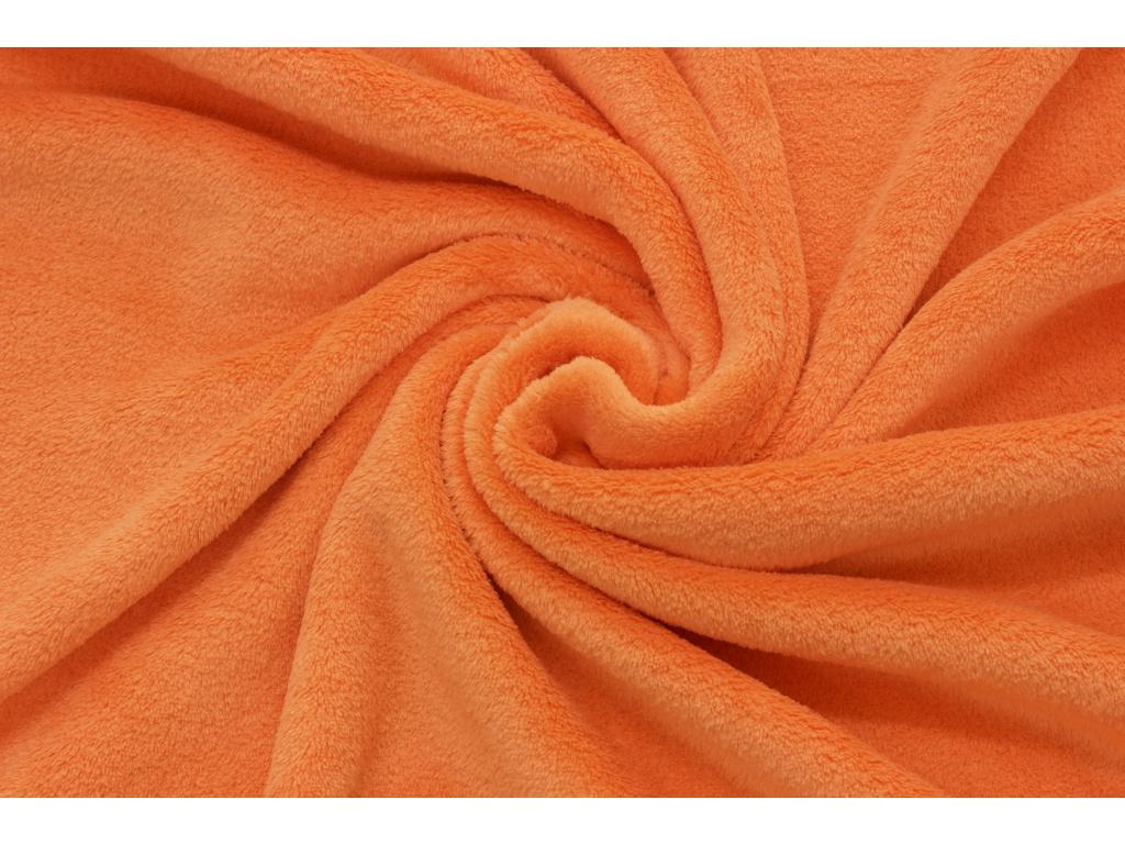 Coral fleece Soft - Oranžový -  a35cf5d8f39