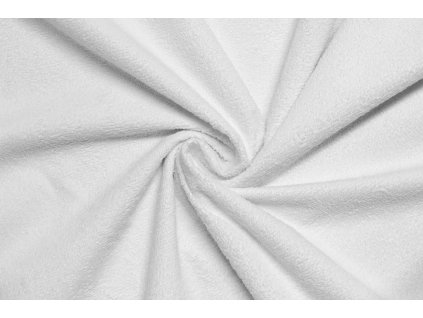 Bavlněné froté s nepropustnou membránou - Bílé