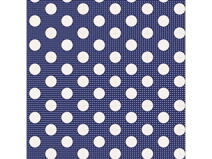 130026 Medium Dots Nigth Blue