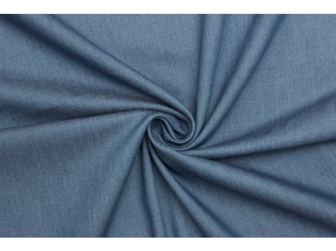 Riflovina | Denim směsová šatová - Modrá