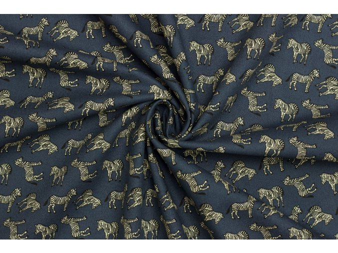 Bavlněné plátno - Zebra