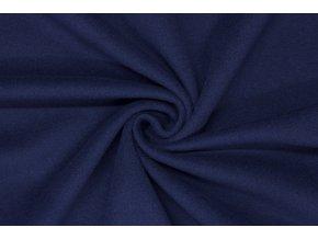Flauš vlněný - Tmavě švestkově modrý s kašmírem