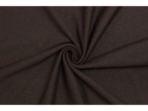 Bavlněný úplet - Tmavě Šedo hnědý 185 cm šíře