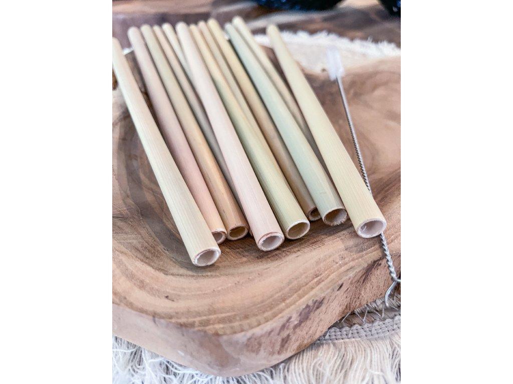 Bambusové slámky