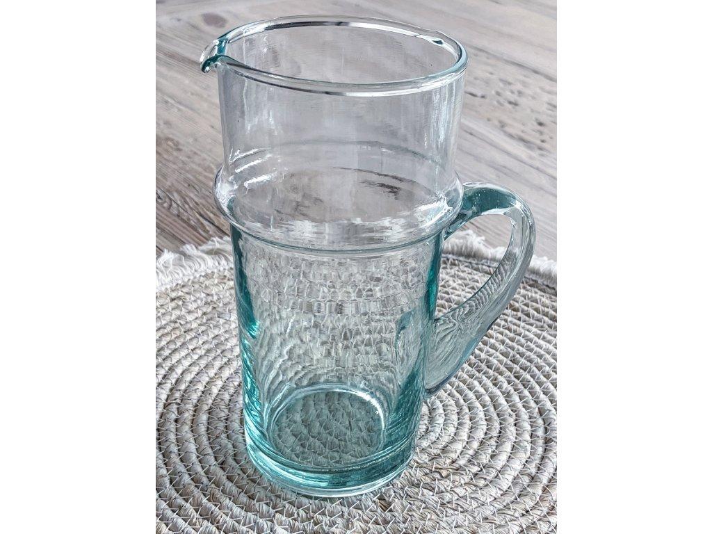 Džbán z recyklovaného skla PULA
