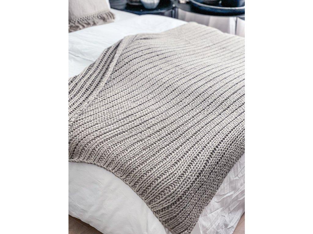 Pléd pletený z bavlněné příze