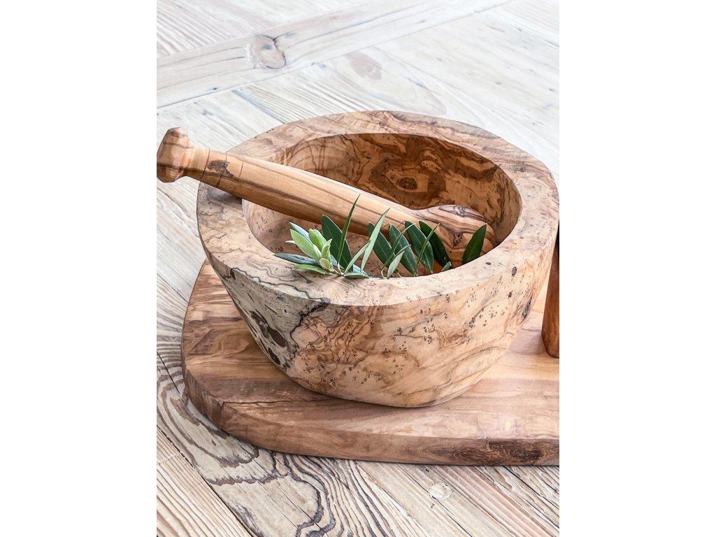 Hmoždíř z olivového dřeva