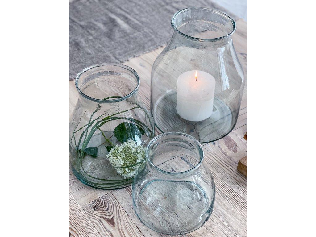 Váza z recykl.skla S-M-L
