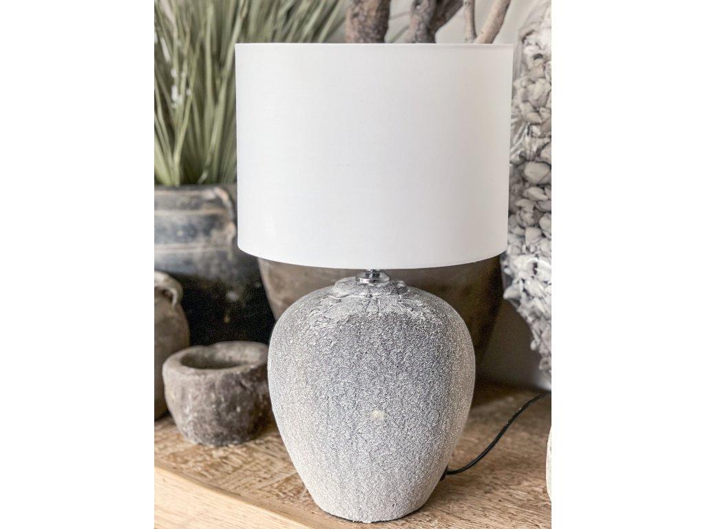 Lampa z hrubé kameniny