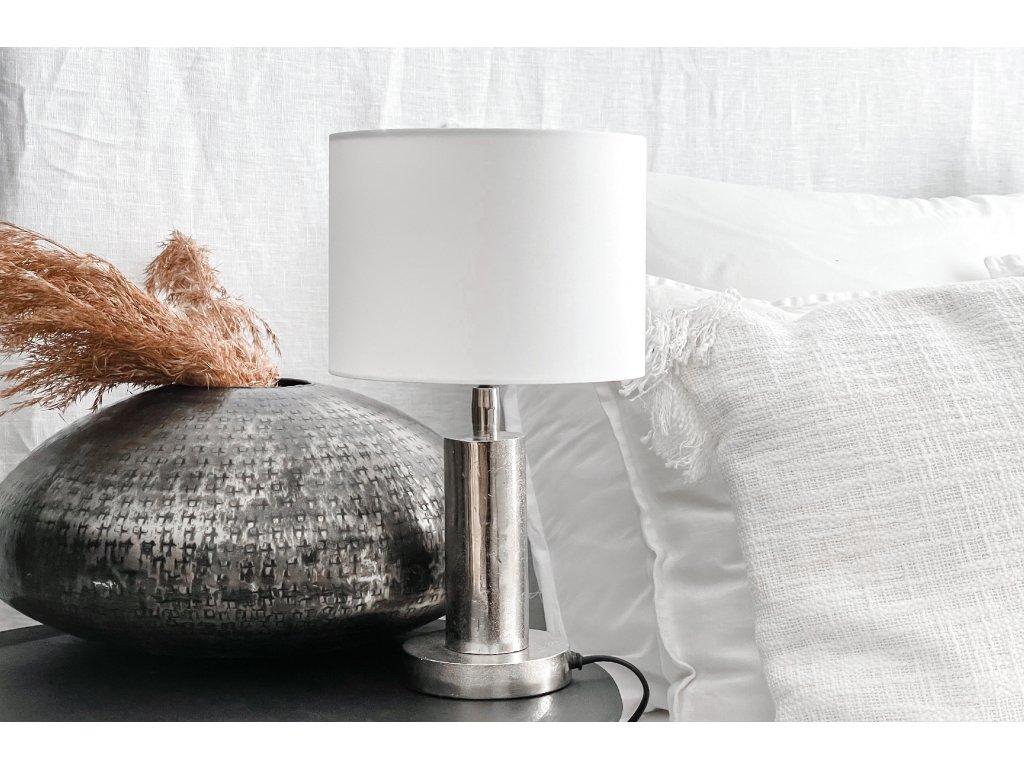 Lampička - stříbrný kov