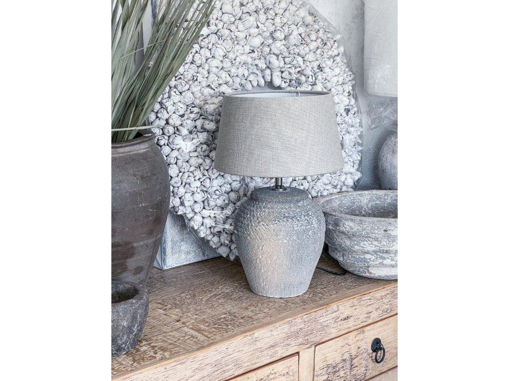 Lampa z hrubé keramiky