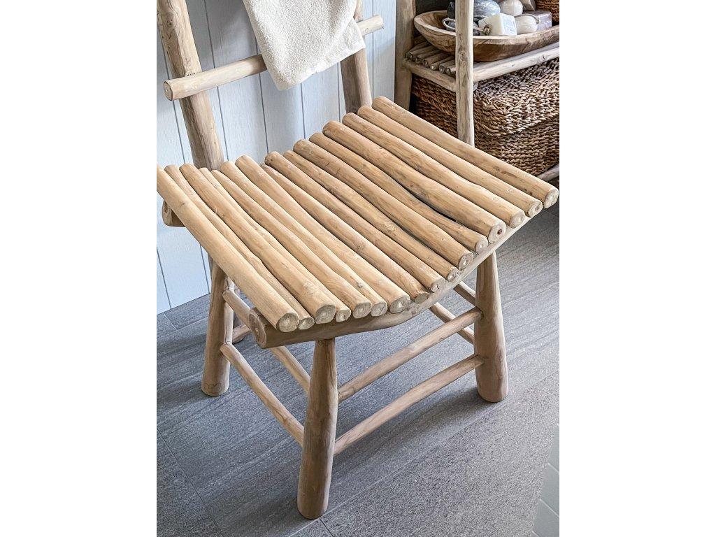 Židle lavička z teakového dřeva