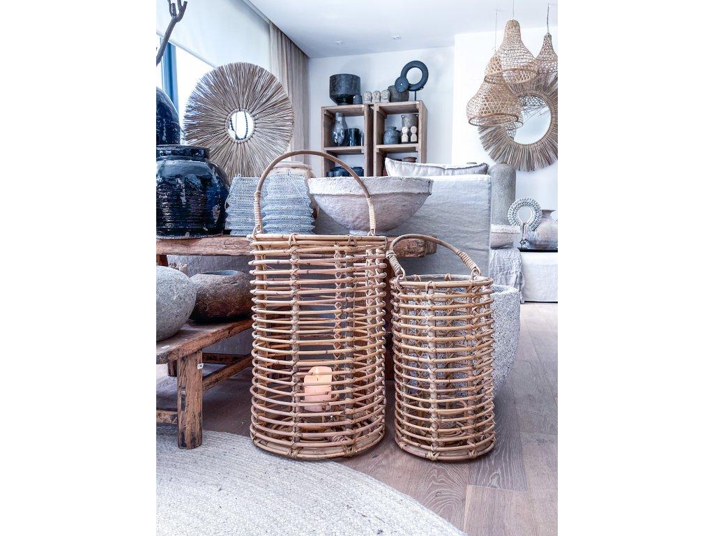 Laterna bambus M-L