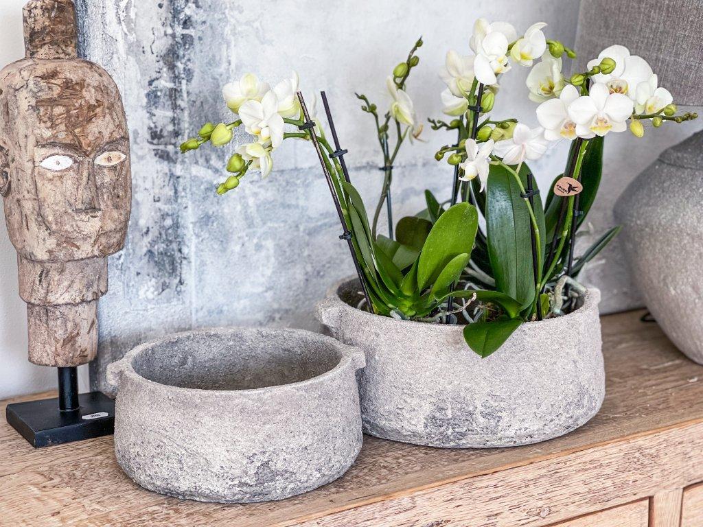 Mísa - obal na květiny z hrubé keramiky