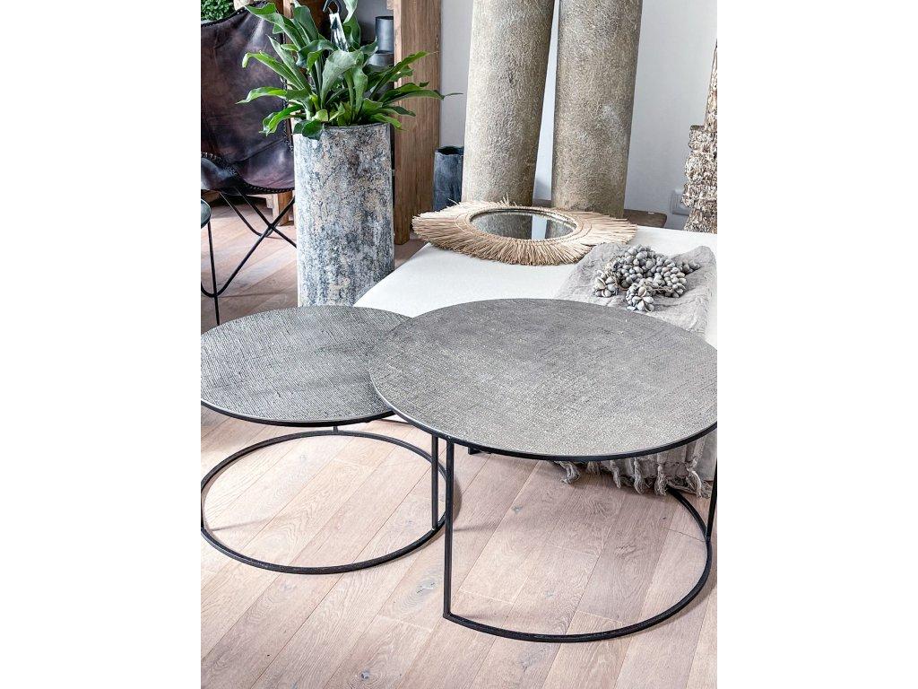 Konferenční stůl s hrubou strukturou/stříbrný