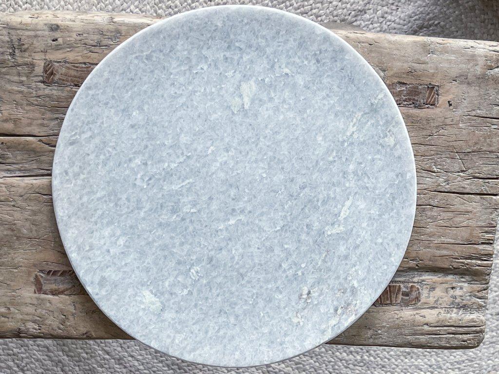 Tác z přírodního mramoru S-M/světle šedý