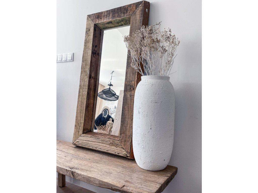 Zrcadlo z teakového dřeva