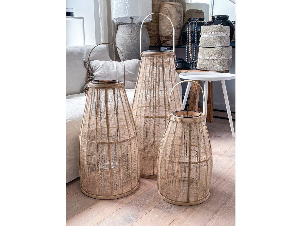 Bambusová laterna S-M-L