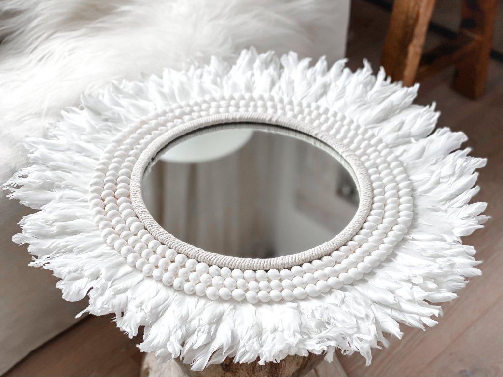 zrcadlo - mandala z peří