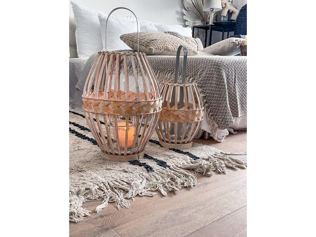 Laterna - bělený bambus