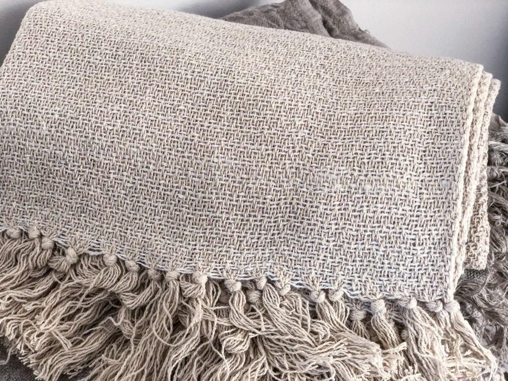 Přehoz na postel - hrubě tkaný
