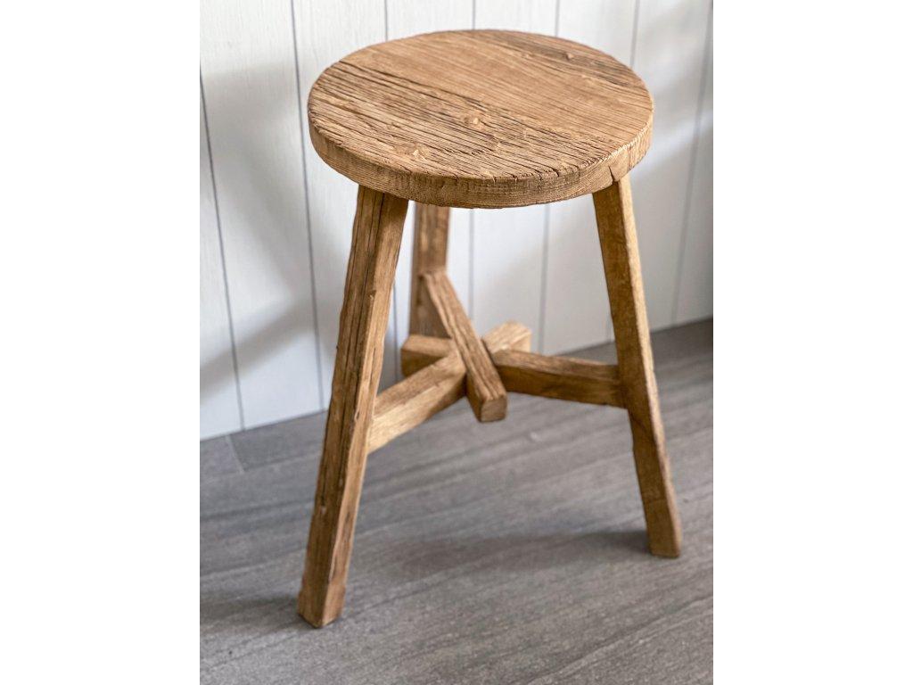 Židle ze starého jilmového dřeva