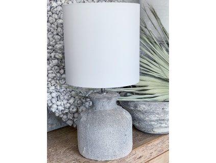 Lampa z hrubé keramiky - bílá/béžová